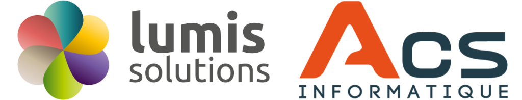 Lumis Solutions ACS Informatique Logos